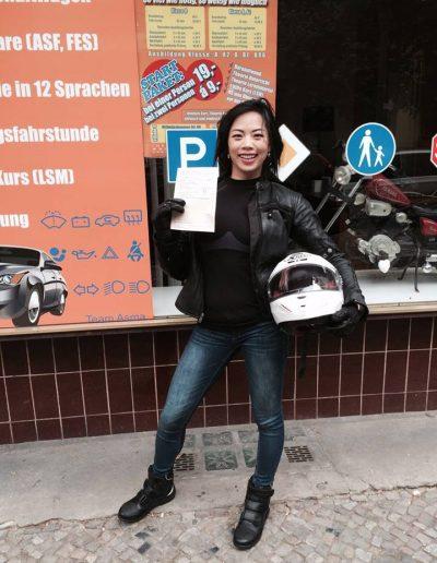 Motorrad praktische Prüfung bestanden